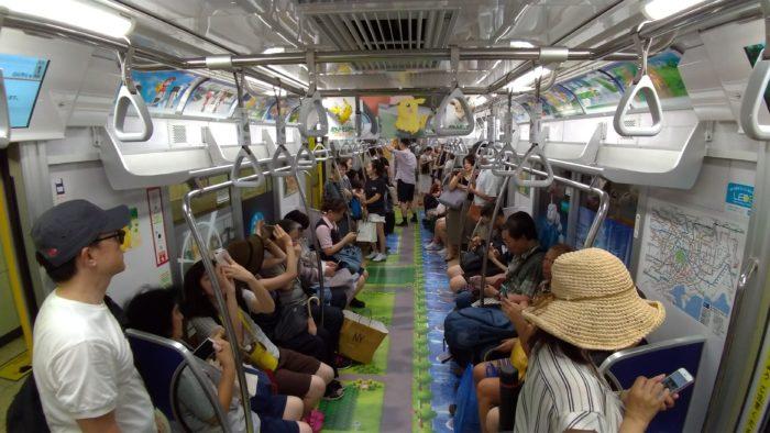 東京メトロ銀座線でポケモン号