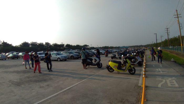 台南都市公園の駐車場