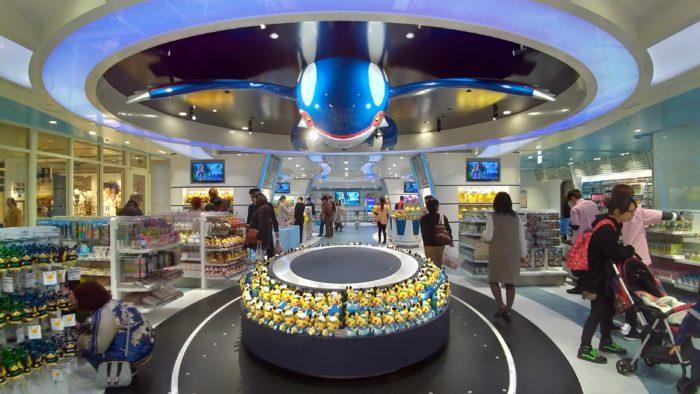 ポケモンセンターヨコハマの天井にはカイオーガ