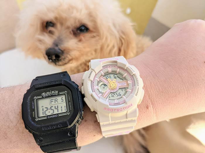 BABY-G ピンクのピカチュウ腕時計